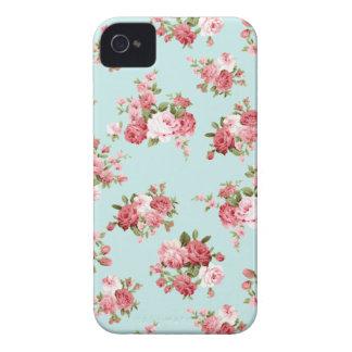 Color de rosa elegante lamentable iPhone 4 fundas
