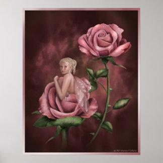 Color de rosa encantada poster