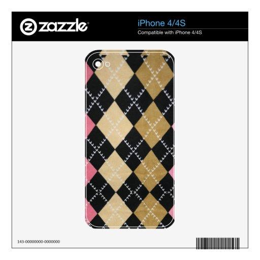 Color de rosa escocés skins para iPhone 4S