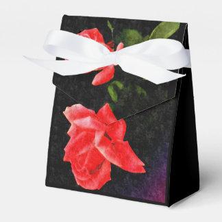 Color de rosa estilizado del doble del vintage cajas para regalos de fiestas