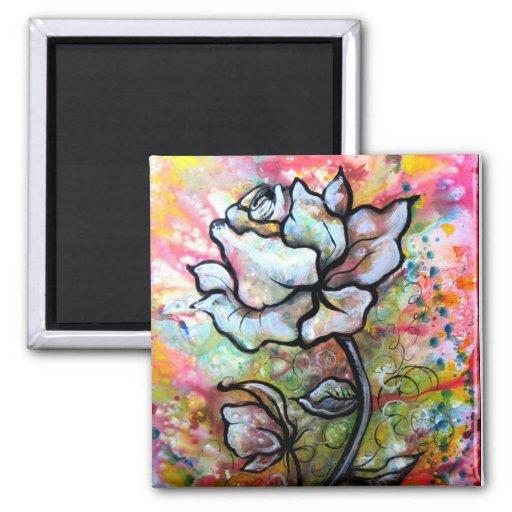 Color de rosa etéreo, un ejemplo floral por Shadia Imanes Para Frigoríficos
