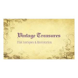 Color de rosa floral antiguo del vintage plantillas de tarjetas de visita