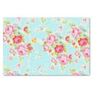 Color de rosa floral del vintage elegante papel de seda pequeño