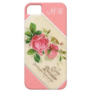 Color de rosa floral rosado del vintage - iPhone 5 iPhone 5 Cobertura