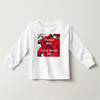 color de rosa, Flowergirl JaimeFirst de diciembre Playeras