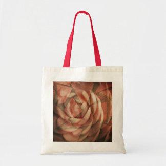 Color de rosa fracturada bolsa de mano