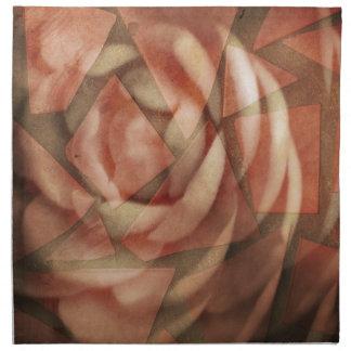 Color de rosa fracturada servilletas imprimidas