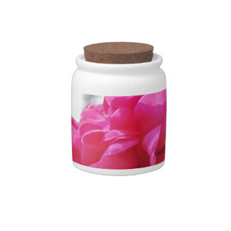 Color de rosa plato para caramelo
