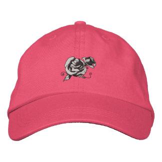 Color de rosa gorra de beisbol bordada