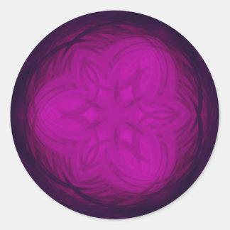 Color de rosa gótico de la trinidad pegatina redonda