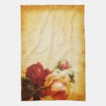 Color de rosa gótico del vintage toalla de mano