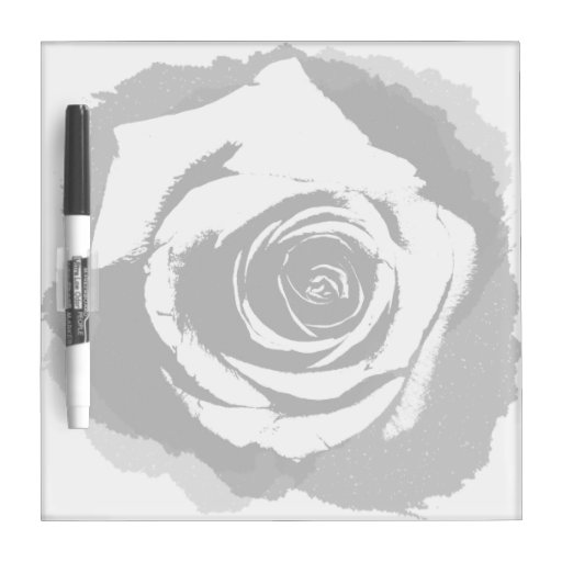Color de rosa gráfico blanco y negro pizarra