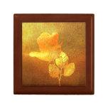 Color de rosa impresa romántico del oro del papel  cajas de recuerdo