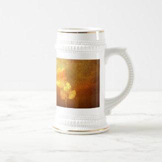 Color de rosa impresa romántico del oro del papel  taza