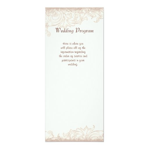 Color de rosa inglés antiguo - invitación poner invitación 10,1 x 23,5 cm