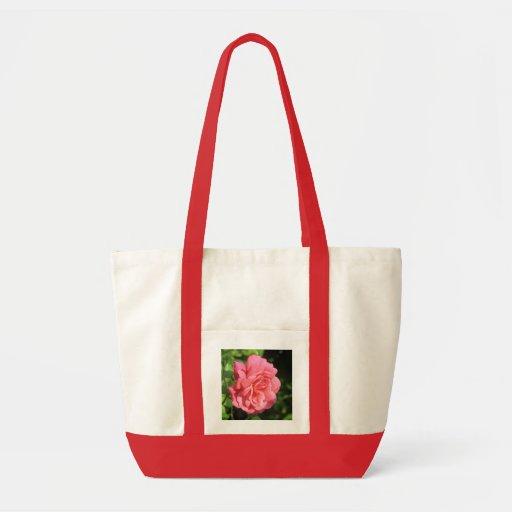 Color de rosa inglés bolsas de mano