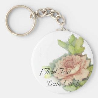 Color de rosa inglés en un Cadena-Personalizar dom Llaveros