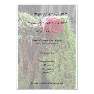 """Color de rosa invitación 5"""" x 7"""""""