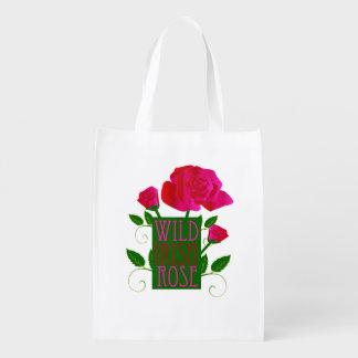 Color de rosa irlandés salvaje bolsa de la compra