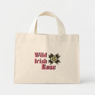 Color de rosa irlandés salvaje bolsa de tela pequeña