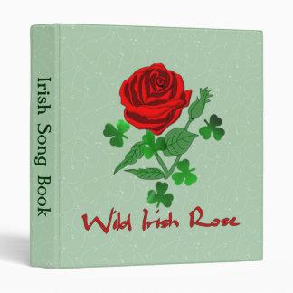 "Color de rosa irlandés salvaje carpeta 1"""