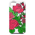 Color de rosa irlandés salvaje iPhone 5 Case-Mate carcasas