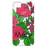 Color de rosa irlandés salvaje iPhone 5 carcasa