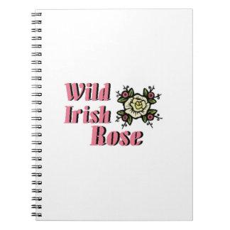 Color de rosa irlandés salvaje libretas
