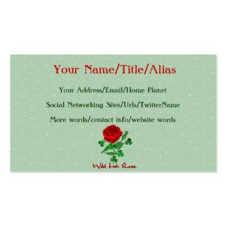 Color de rosa irlandés salvaje tarjetas de visita