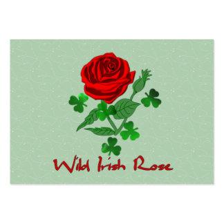 Color de rosa irlandés salvaje tarjetas de visita grandes