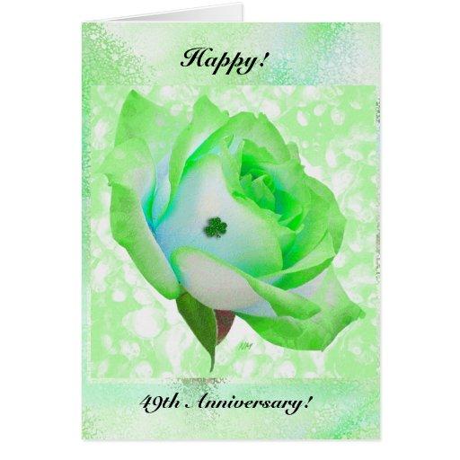 ¡Color de rosa irlandés y aniversario! Tarjeta De Felicitación