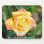 color de rosa, la vida es como una rosaleda - relo alfombrillas de ratón