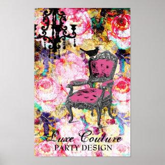 Color de rosa lamentable fabulosamente francés de  póster