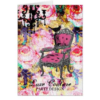 Color de rosa lamentable fabulosamente francés de  tarjeta pequeña