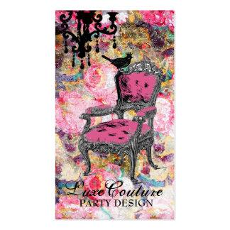 Color de rosa lamentable fabulosamente francés de tarjetas de visita