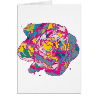 Color de rosa loco tarjeta de felicitación
