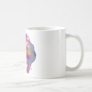 Color de rosa loco taza clásica