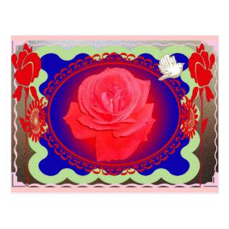 Color de rosa mágico tarjetas postales