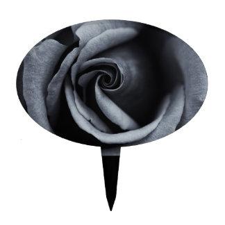 Color de rosa magnífico en negro y blanco figura de tarta