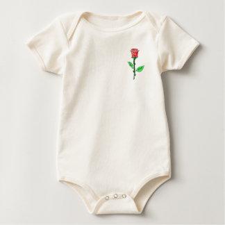 Color de rosa mameluco de bebé