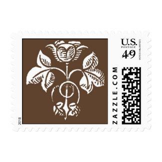 color de rosa marrón - modificado para requisitos sello postal