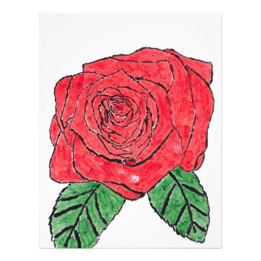 Color de rosa membrete a diseño