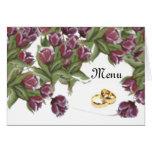 Color de rosa - menú del boda felicitación
