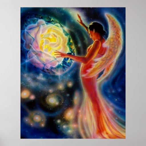 Color de rosa místico por el iris de Lisa Impresiones