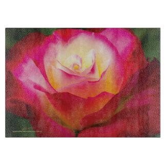 Color de rosa multicolor - tablero MEDIO del corte Tabla Para Cortar
