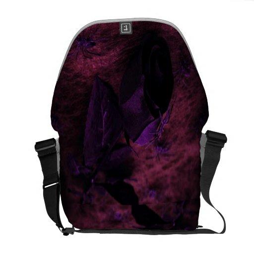 Color de rosa negro bolsas messenger