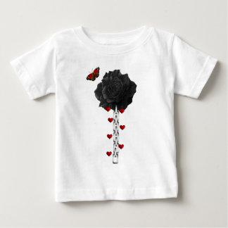 Color de rosa negro del amor playeras