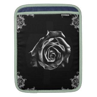 Color de rosa negro del vintage por diseño del art mangas de iPad