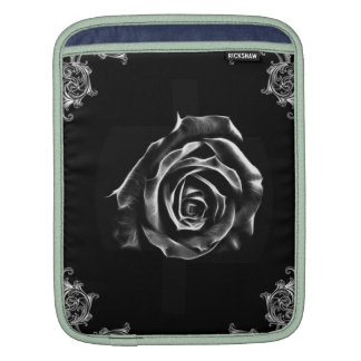 Color de rosa negro del vintage por diseño del mangas de iPad