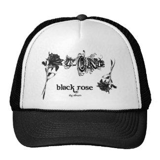 Color de rosa negro gorro de camionero